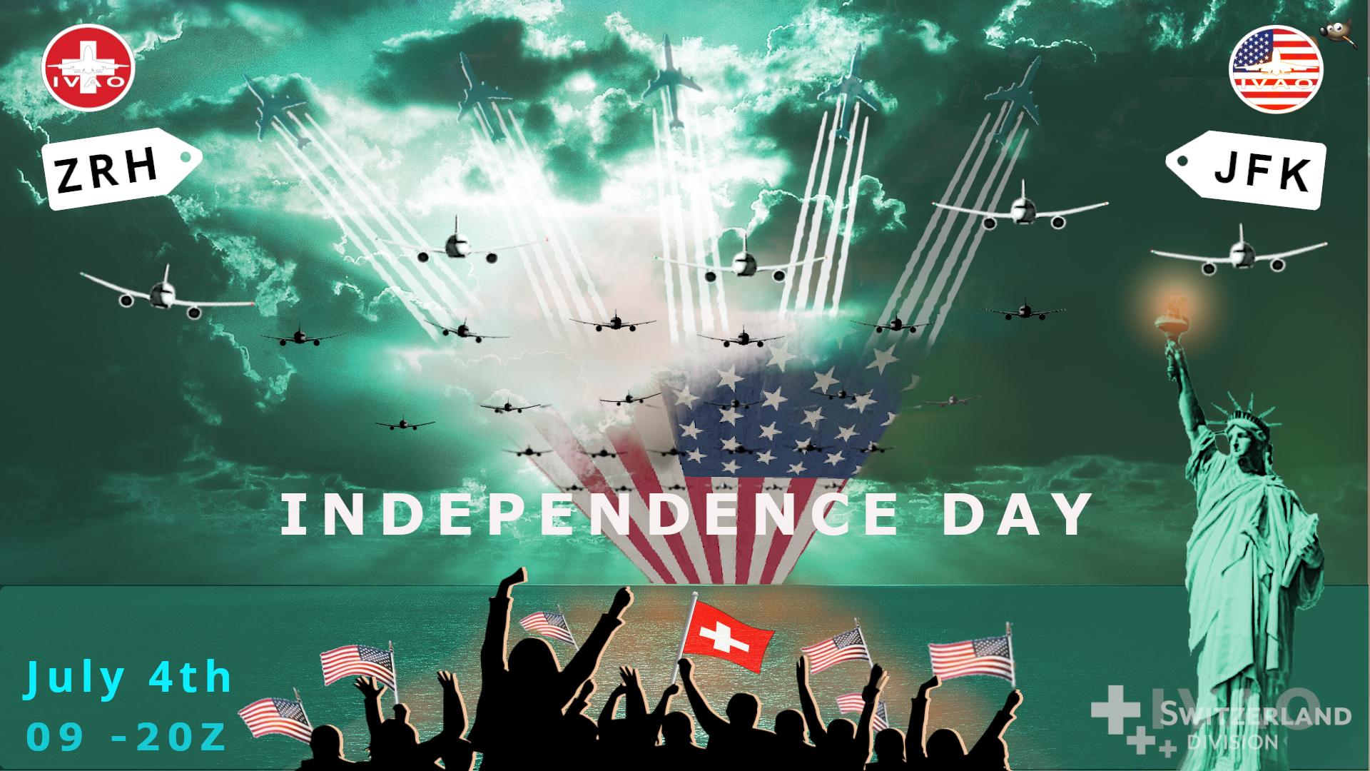 [CH+FR+XA+XU] Independence Day LSZH-KJFK